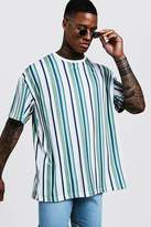 Oversized T-Shirt In Vertical Stripe
