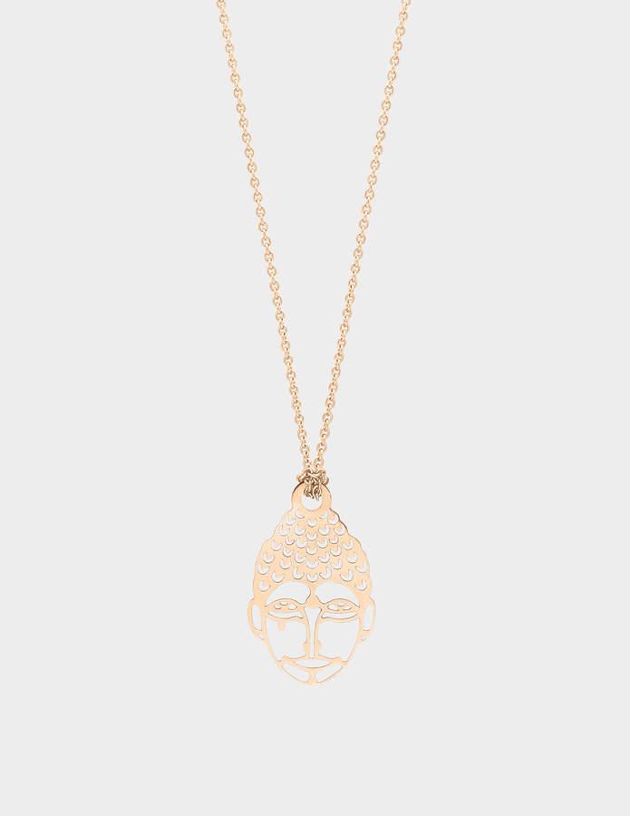 ginette_ny Mini Buddha 18-karat rose gold necklace