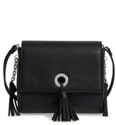 Street Level Convertible Faux Leather Crossbody Bag - Black