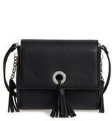 Street Level Faux Leather Crossbody Bag - Black