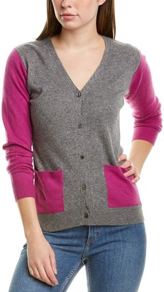 Portolano Colorblocked Wool & Cashmere-Blend Cardigan