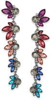 INC International Concepts Hematite-Tone Multi-Stone Linear Drop Earrings, Created for Macy's