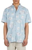 Barney Cools Men's Tropical Print Woven Shirt