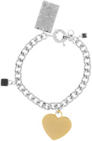Kayla HEART AND CUBE CHARM BRACELET