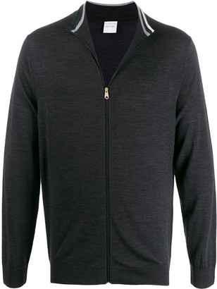 Paul Smith Zip-Up Mock Neck Cardigan