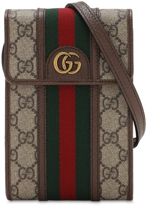 Gucci Mini Ophidia Gg Canvas Crossbody Bag