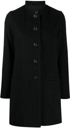 Casey Casey Button-Up Cashmere Coat