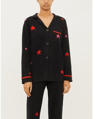 Chinti and Parker Star-intarsia cashmere pyjama top