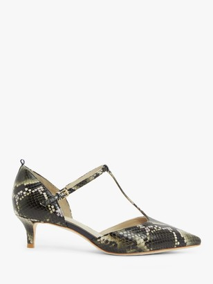 Boden Claudia Kitten Heel Leather Court Shoes