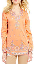 Sigrid Olsen Signature Embroidered Cotton Kurta Tunic