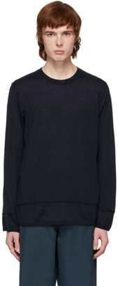 Comme des Garcons Navy Inside Out Sweater