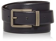 Giorgio Armani Men's Embossed Leather Belt