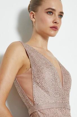 Coast Embroidered Diamante Mini Dress