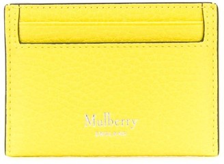 Mulberry Logo-Print Textured Cardholder