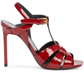 Saint Laurent Tribute 105MM Patent Leather Sandals