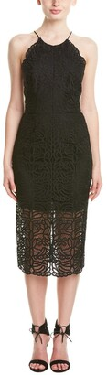 Cynthia Rowley Women's Black Lace Dress with Halter Tie 12