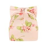 MonnaLisa MonnalisaBaby Girls Pink Rose Print Hat With Bow