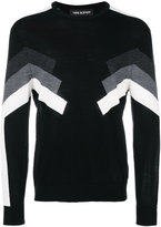 Neil Barrett panelled jumper