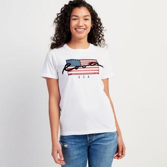 Roots Womens Script USA T-shirt