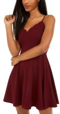 B. Darlin Juniors' Scalloped Fit & Flare Dress