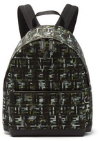 Fendi Ff And Camouflage-print Backpack - Mens - Green Multi
