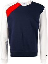 MSGM colour block sweatshirt - men - Cotton - S