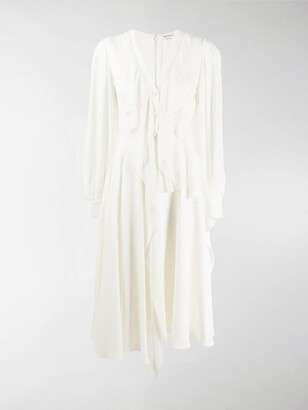 Alexander McQueen Ruffled Midi Dress