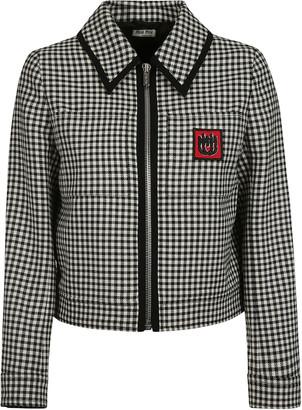 Miu Miu Tartan Zipped Jacket
