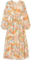 Elizabeth and James Norma Printed Silk Maxi Dress - Marigold