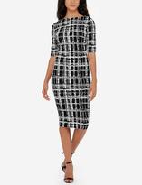 The Limited Eva Longoria Power Ponte Patterned Sheath Dress
