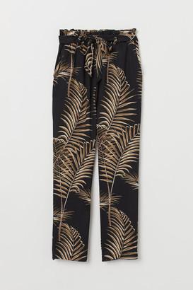 H&M Paper-bag Pants - Black