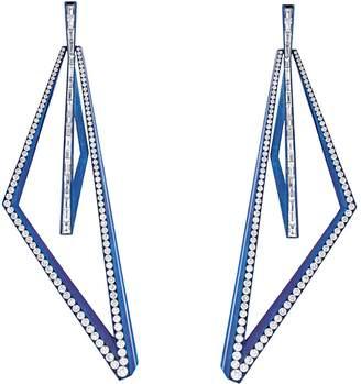 Stephen Webster Titanium and Diamond Vertigo Very Obtuse Hoop Earrings