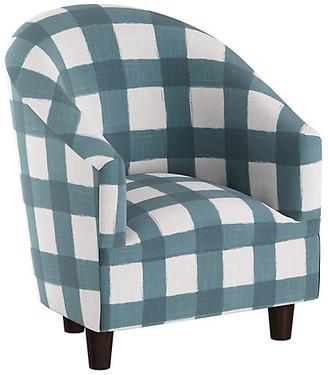 One Kings Lane Ashlee Kids' Chair - Blue/White Linen