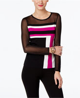 INC International Concepts Petite Colorblocked Illusion Sweater, Only at Macy's