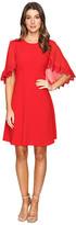 Taylor Stretch Crepe Caplet Dress