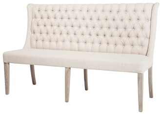 """Design Tree Home Antique French Banquette Dining Bench 65"""""""