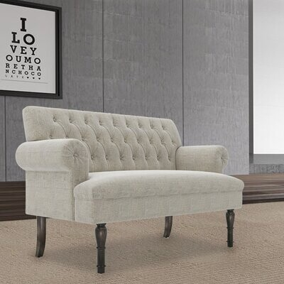 """Thumbnail for your product : Alcott Hill Eaddy 58.27"""" Rolled Arm Loveseat"""