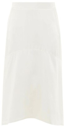 Vivienne Westwood Curved-hem Charmeuse Skirt - White