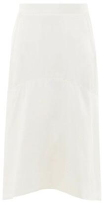 Vivienne Westwood Curved-hem Charmeuse Skirt - Womens - White