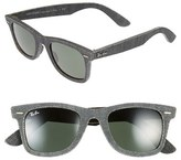 Ray-Ban Men's 'Original Wayfarer - Denim' 50Mm Sunglasses - Black Denim/ Green