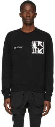 Off-White Black Half Arrows Man Sweatshirt