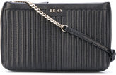 DKNY quilted pinstripe crossbody bag - women - Leather - One Size