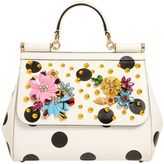 Dolce & Gabbana Medium Sicily Embellished Leather Bag