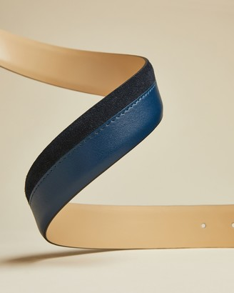 Ted Baker MATTEL Suede and leather belt