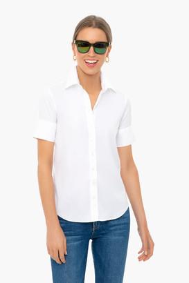 The Shirt By Rochelle Behrens White Short Sleeve Essentials Shirt