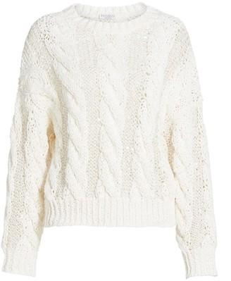 Brunello Cucinelli Pailette Chunky Crewneck Sweater