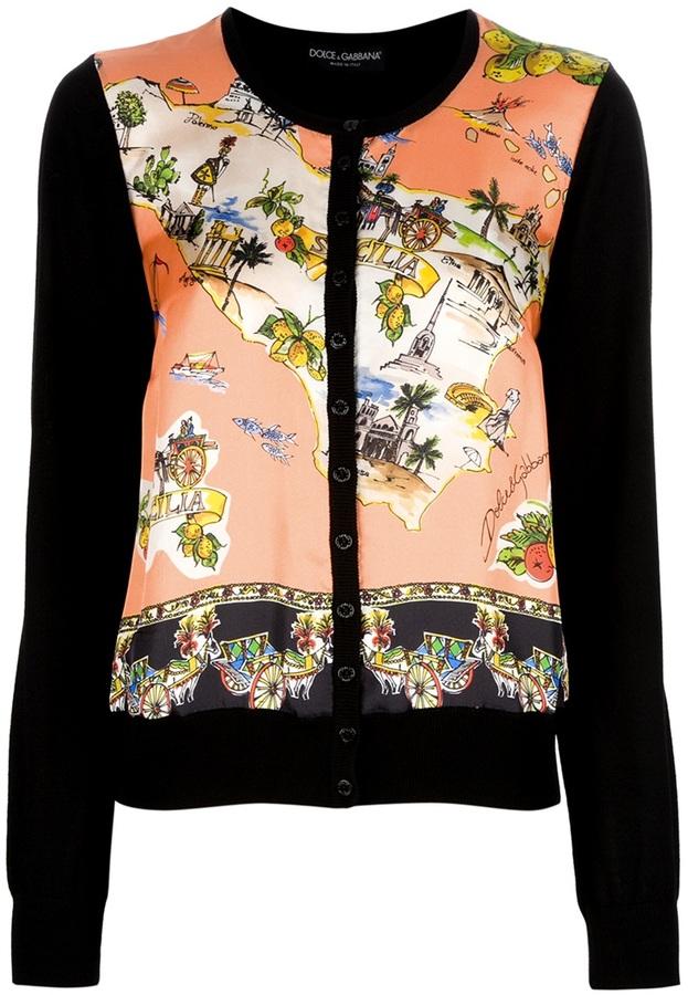 Dolce & Gabbana printed cardigan
