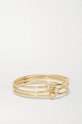 Jennifer Meyer Set Of Three 18-karat Gold Diamond Rings - 7