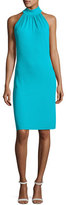 Michael Kors Sleeveless Halter Sheath Dress