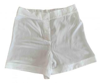 La Perla White Silk Shorts for Women